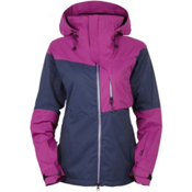 686 GLCR Solstice Thermagraph Womens Insulated Snowboard Jacket, Midnight Blue Colorblock, medium