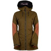 686 Parklan Fortune Womens Insulated Snowboard Jacket, Olive, medium
