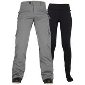 686 Authentic Smarty Cargo Womens Snowboard Pants, Steel, medium