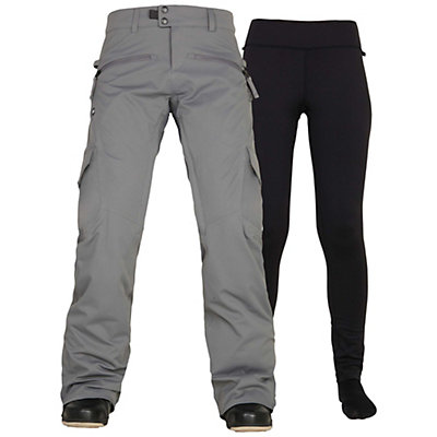 686 Authentic Smarty Cargo Womens Snowboard Pants, Steel, viewer