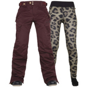 686 Authentic Smarty Cargo Womens Snowboard Pants, Black Ruby, medium