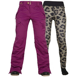 686 Authentic Smarty Cargo Womens Snowboard Pants, Mulberry, 256