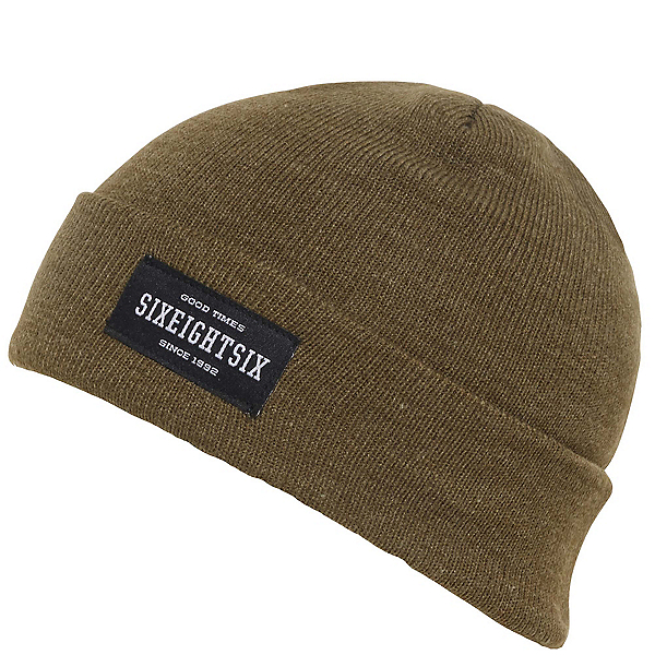 686 Good Times Roll Up Beanie, Olive Heather, 600