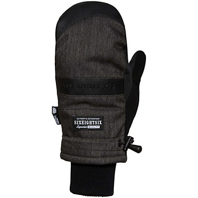 686 Recon Mitt Mittens, Black Denim, viewer