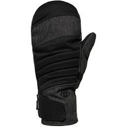 686 Majesty Womens Mittens, Black Denim, 256