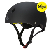 Triple 8 Brainsaver II with MIPS Mens Skate Helmet, Black Rubber, medium