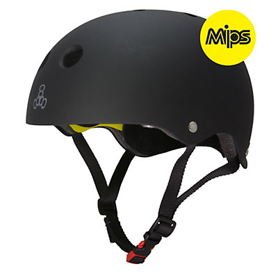 Triple 8 Brainsaver II with MIPS Mens Skate Helmet, Black Rubber, viewer