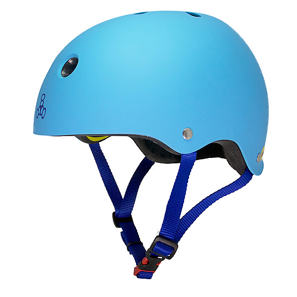 Triple 8 Brainsaver II with MIPS Mens Skate Helmet, Hyper Blue Matte, 600