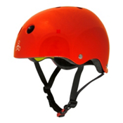Triple 8 Brainsaver II with MIPS Mens Skate Helmet, Big Apple Red Glossy, medium