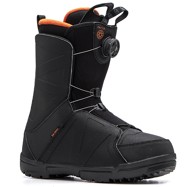 Salomon Faction Boa Snowboard Boots, Black-Orange Rust, 600
