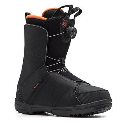 Salomon Faction Boa Snowboard Boots, Black-Orange Rust, viewer