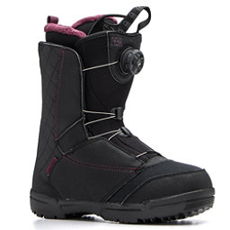 Salomon Pearl Boa Womens Snowboard Boots, Black-Bordeaux, 256