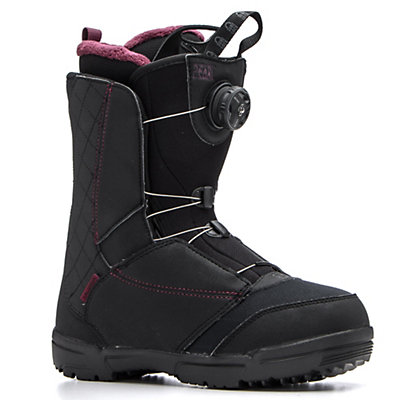 Salomon Pearl Boa Womens Snowboard Boots 2017, Black-Bordeaux, viewer