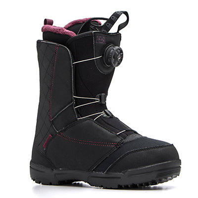 Salomon Pearl Boa Womens Snowboard Boots, Black-Bordeaux, viewer