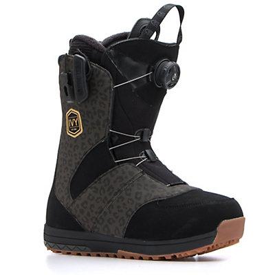 Salomon Ivy Boa Str8jkt Womens Snowboard Boots, Black-Leopard, viewer