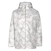 Columbia Whirlibird Interchangeable - Plus Size Womens Insulated Ski Jacket, White Geo Print, medium