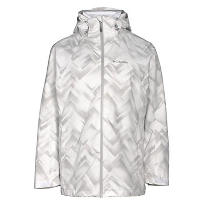 Columbia Whirlibird Interchangeable - Plus Size Womens Insulated Ski Jacket, White Geo Print, viewer