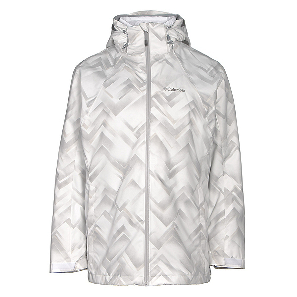 Columbia Whirlibird Interchangeable - Plus Size Womens Insulated Ski Jacket, White Geo Print, 600