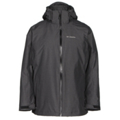 Columbia Whirlibird Interchangeable - Plus Size Womens Insulated Ski Jacket, Black Cross Dye, medium