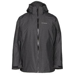 Columbia Whirlibird Interchangeable - Plus Size Womens Insulated Ski Jacket, Black Cross Dye, 256