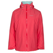 Columbia Whirlibird Interchangeable - Plus Size Womens Insulated Ski Jacket, Red Camellia Cross Dye, medium