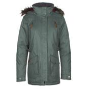 Columbia Barlow Pass 550 TurboDown w/Faux Fur Womens Jacket, Pond, medium