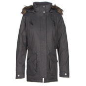 Columbia Barlow Pass 550 TurboDown w/Faux Fur Womens Jacket, Black, medium