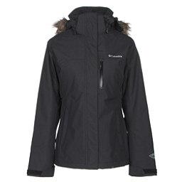 Columbia Lhotse Interchange with Faux Fur Womens Insulated Ski Jacket, Black, 256