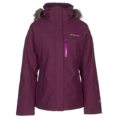 Columbia Lhotse Interchange with Faux Fur Womens Insulated Ski Jacket, Purple Dahlia, medium
