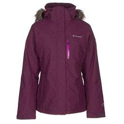 Columbia Lhotse Interchange with Faux Fur Womens Insulated Ski Jacket, Purple Dahlia, 256