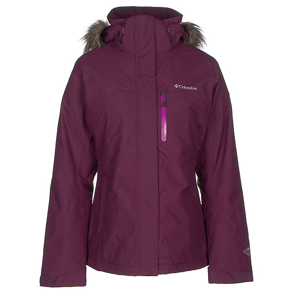 Columbia Lhotse Interchange with Faux Fur Womens Insulated Ski Jacket, Purple Dahlia, 600
