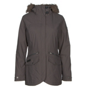 Columbia Grandeur Peak Mid Jacket w/Faux Fur, Mineshaft, medium