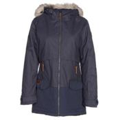 Columbia Catacomb Crest Parka w/Faux Fur Womens Insulated Ski Jacket, Nocturnal, medium