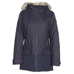 Columbia Catacomb Crest Parka w/Faux Fur Womens Insulated Ski Jacket, Nocturnal, 256
