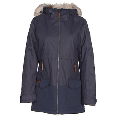 Columbia Catacomb Crest Parka w/Faux Fur Womens Jacket, Nocturnal, viewer