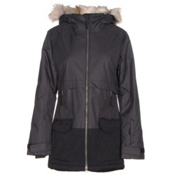 Columbia Catacomb Crest Parka w/Faux Fur Womens Insulated Ski Jacket, Black, medium