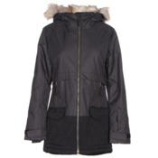 Columbia Catacomb Crest Parka w/Faux Fur Womens Insulated Ski Jacket, Black, medium