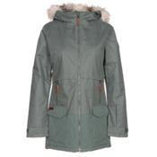 Columbia Catacomb Crest Parka w/Faux Fur Womens Insulated Ski Jacket, Pond, medium
