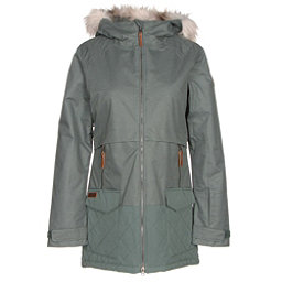 Columbia Catacomb Crest Parka w/Faux Fur Womens Insulated Ski Jacket, Pond, 256