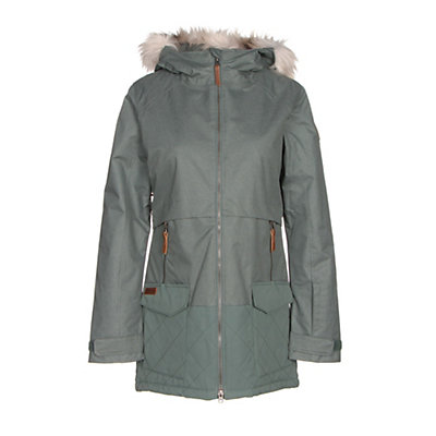 Columbia Catacomb Crest Parka w/Faux Fur Womens Insulated Ski Jacket, Nocturnal, viewer