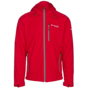 Columbia Zonafied Mens Soft Shell Jacket, Mountain Red, medium