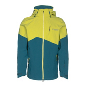 Columbia CSC Mogul Mens Shell Ski Jacket, Deep Water-Mineral Yellow, medium