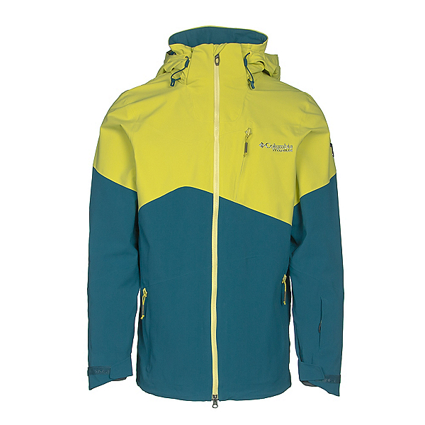 Columbia CSC Mogul Mens Shell Ski Jacket, Deep Water-Mineral Yellow, 600