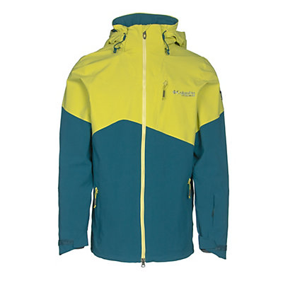 Columbia CSC Mogul Mens Shell Ski Jacket, Deep Water-Mineral Yellow, viewer