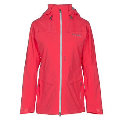 Columbia Carvin Womens Insulated Ski Jacket, Red Camellia, viewer