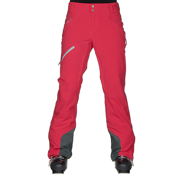 Columbia Zip Down Womens Ski Pants, Red Camellia, 600