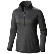Columbia Diamond Peak Half Zip Womens Mid Layer, Black Heather, medium