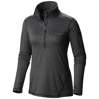 Columbia Diamond Peak Half Zip Womens Mid Layer, Black Heather, viewer