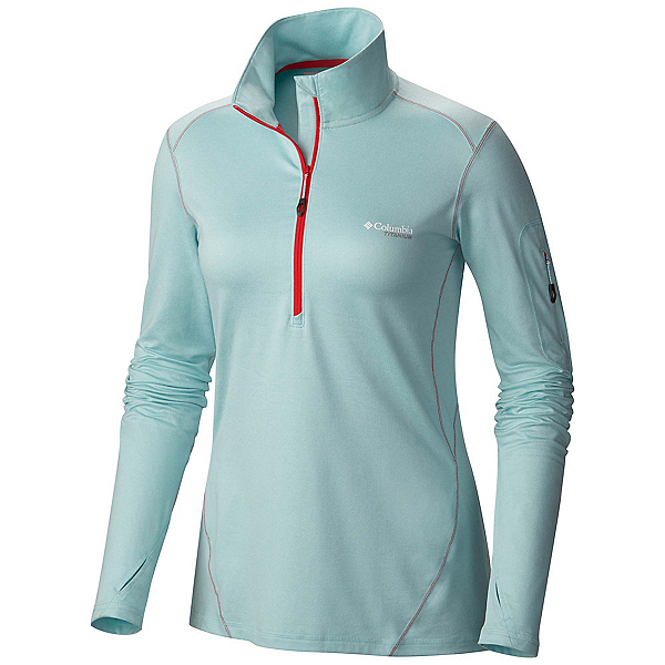 Columbia Diamond Peak Half Zip Womens Mid Layer, Spray Heather, 600