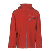 Columbia Carvin Mens Insulated Ski Jacket, Rust Red, medium